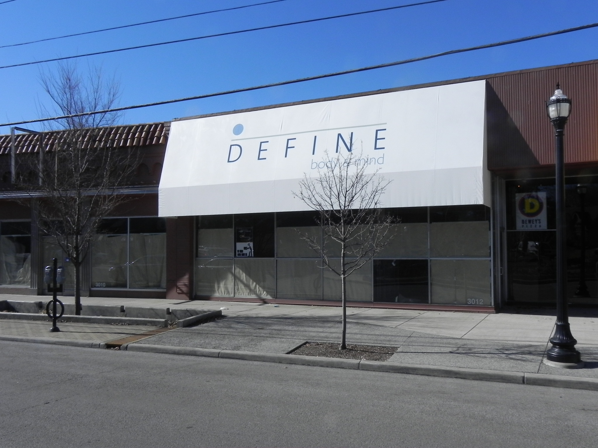 Define Body & Mind Graphic Awning