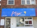Lucy Blue Pizza Graphic Awning in Cincinnati